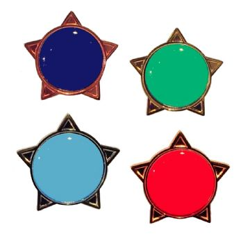 Blank Colour star badge